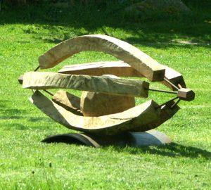Plastik Holzbildhauerei Auge von Jost Loeber