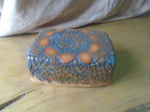 Keramik Butterdose als Unikat Töpferware von Christa Welte Joern