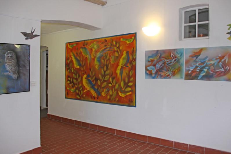 Ausstellung der Serie Vögel von Gerhild Grolitsch