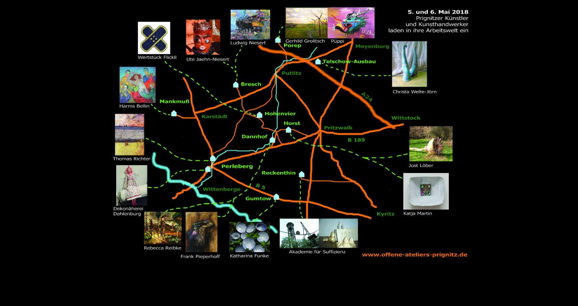 Kunst - Künstler und Ihre Ateliers in der Prignitz