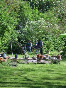 Bronze gießen workshop offene Ateliers Brandenburg in Horst Landkreis Prignitz