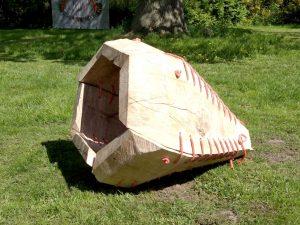 Skulptur aus Holz von Jost Löber aus Horst in Brandenburg Prignitz
