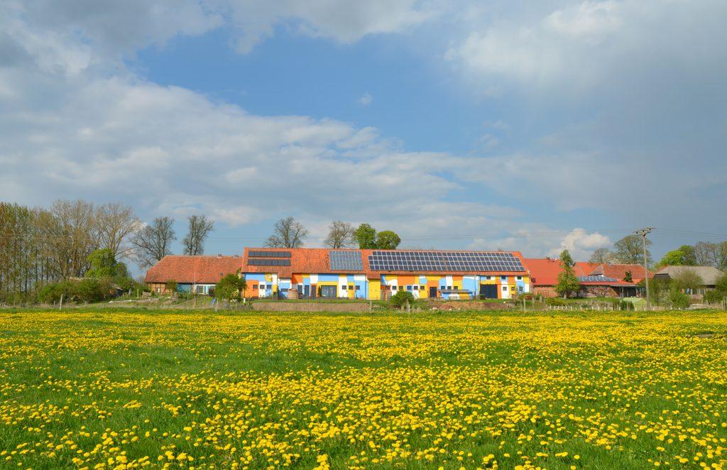 Breetz in der Prignitz in Brandenburg zur Blütezeit