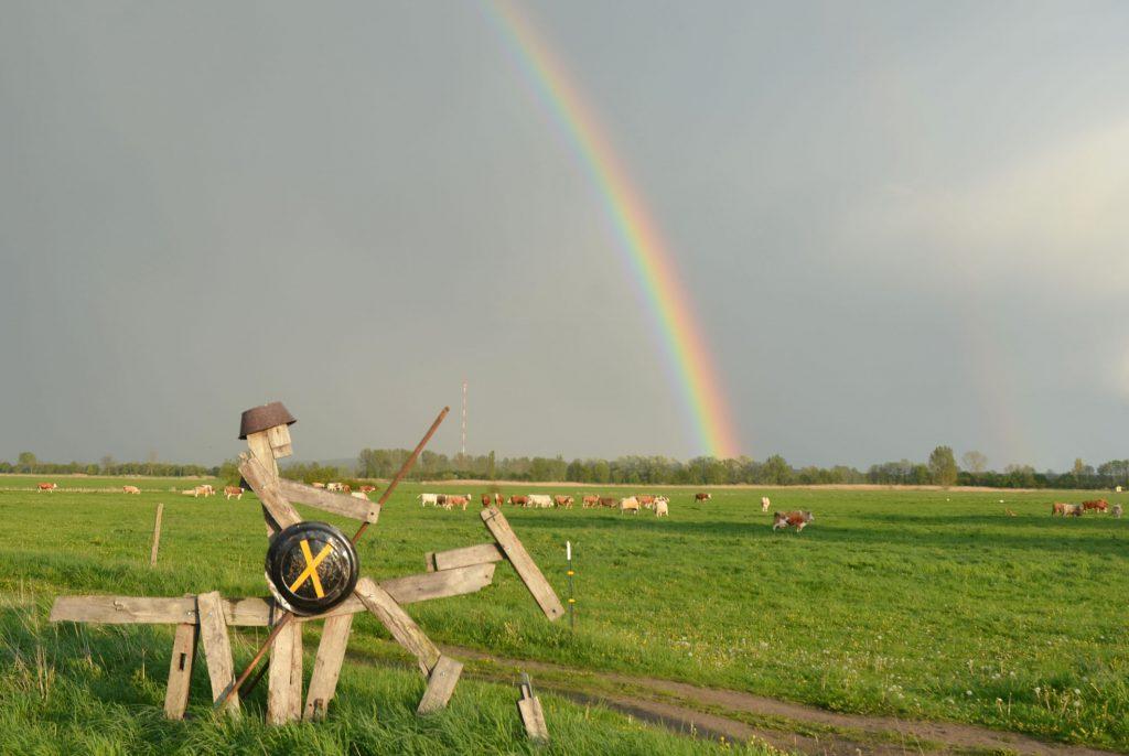 Ausblick von Breetz über die prignitzer Landschaft in Brandenburg