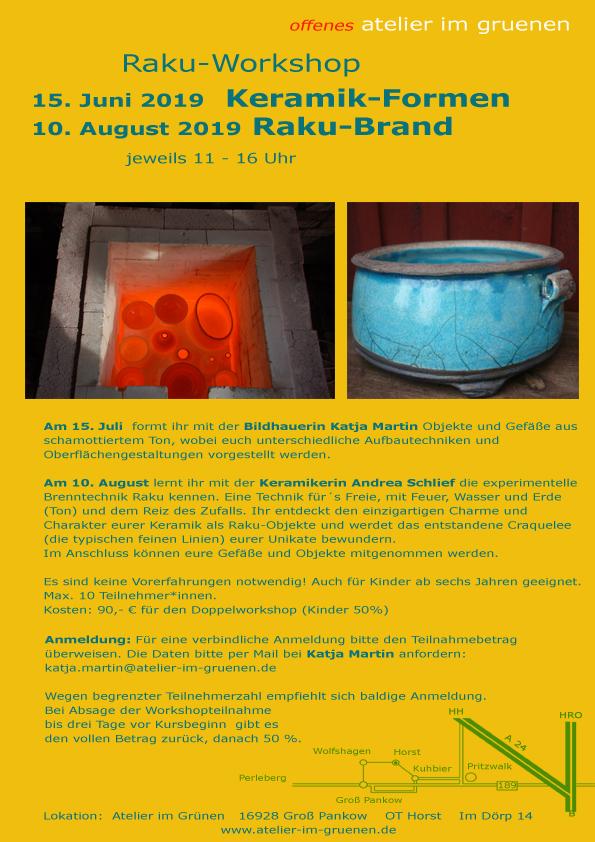 Das Atelier im Grünen in der Prignitz und Bronzeguss workshop
